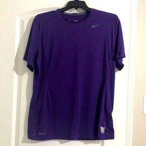 Nike Pro Combat dri fit purple XL fitted shirt
